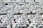 Autos der Marken Audi und Volkswagen auf dem Gelände der Firma BLG Logistics Group AG & Co. KG in Bremerhaven, aufgenommen am Montag (10.06.13). Die Autos werden von hier in die ganze Welt exportiert.